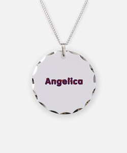 Angelica Red Caps Necklace Circle Charm