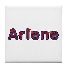 Arlene Red Caps Tile Coaster