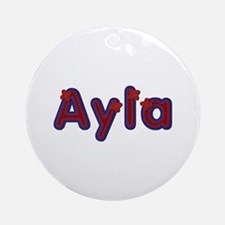Ayla Red Caps Round Ornament