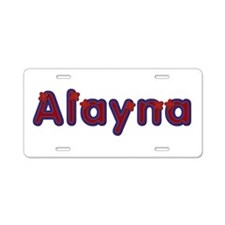 Alayna Red Caps Aluminum License Plate
