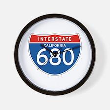 Interstate 680 - CA Wall Clock