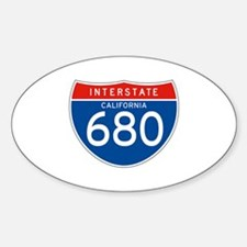 Interstate 680 - CA Oval Decal