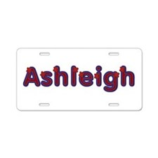 Ashleigh Red Caps Aluminum License Plate