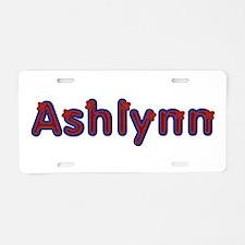 Ashlynn Red Caps Aluminum License Plate