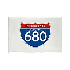 Interstate 680 - CA Rectangle Magnet