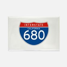 Interstate 680 - CA Rectangle Magnet