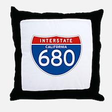 Interstate 680 - CA Throw Pillow