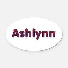 Ashlynn Red Caps Oval Car Magnet