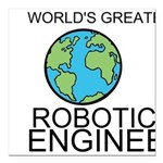 Worlds Greatest Robotics Engineer Square Car Magne