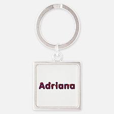 Adriana Red Caps Square Keychain