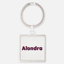 Alondra Red Caps Square Keychain