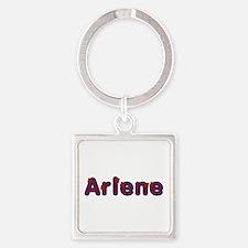 Arlene Red Caps Square Keychain