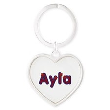 Ayla Red Caps Heart Keychain