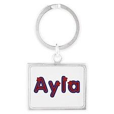 Ayla Red Caps Landscape Keychain