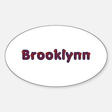 Brooklynn Red Caps Oval Decal