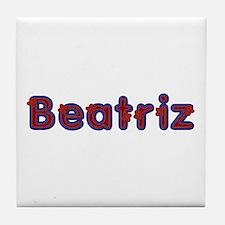 Beatriz Red Caps Tile Coaster