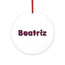 Beatriz Red Caps Round Ornament
