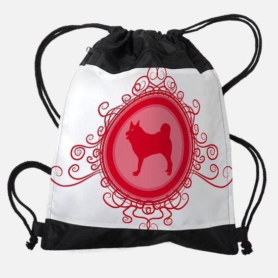 norwegian elkhoundC.png Drawstring Bag