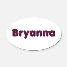 Bryanna Red Caps Oval Car Magnet