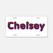 Chelsey Red Caps Aluminum License Plate