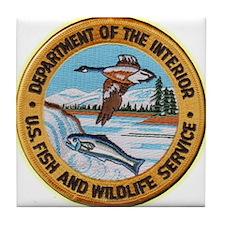 U S Fish Wildlife Service Tile Coaster