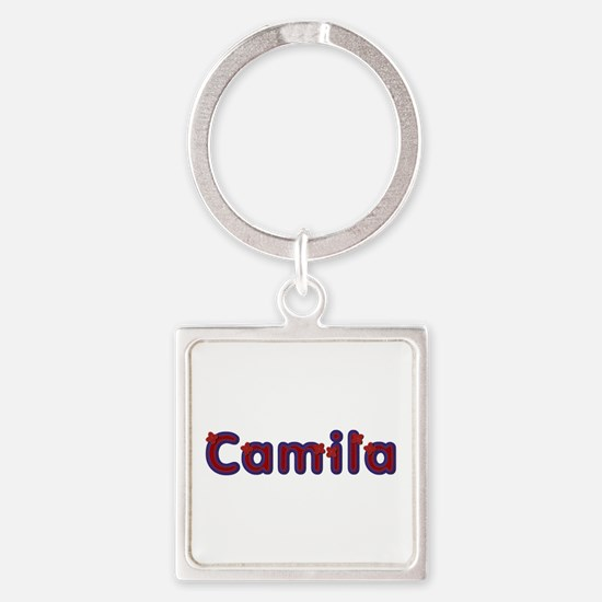 Camila Red Caps Square Keychain