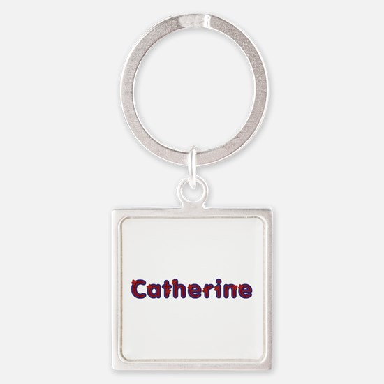 Catherine Red Caps Square Keychain