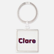 Clare Red Caps Square Keychain