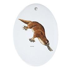 Platypus Animal Ornament (Oval)
