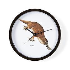 Platypus Animal Wall Clock