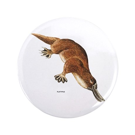 "Platypus Animal 3.5"" Button (100 pack)"
