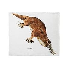 Platypus Animal Throw Blanket