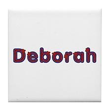 Deborah Red Caps Tile Coaster