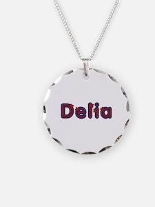 Delia Red Caps Necklace