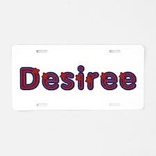Desiree Red Caps Aluminum License Plate