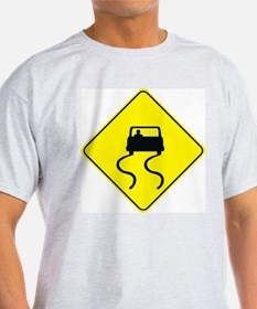 Slippery When Wet Ash Grey T-Shirt