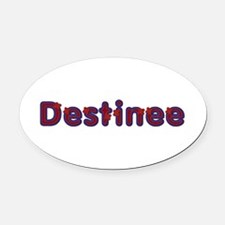 Destinee Red Caps Oval Car Magnet