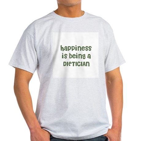 Happiness is being a DIETICIA Ash Grey T-Shirt