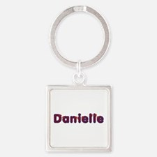 Danielle Red Caps Square Keychain