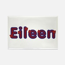 Eileen Red Caps Rectangle Magnet