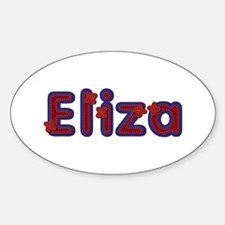 Eliza Red Caps Oval Decal