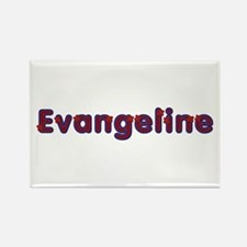 Evangeline Red Caps Rectangle Magnet