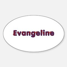 Evangeline Red Caps Oval Decal