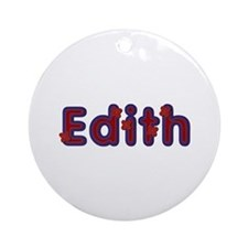 Edith Red Caps Round Ornament