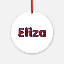 Eliza Red Caps Round Ornament