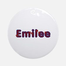 Emilee Red Caps Round Ornament