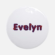 Evelyn Red Caps Round Ornament