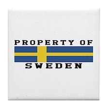 Property Of Sweden Tile Coaster