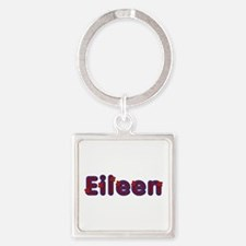 Eileen Red Caps Square Keychain