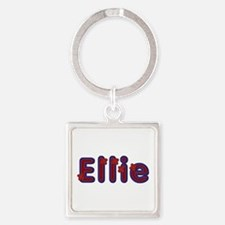 Ellie Red Caps Square Keychain